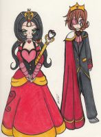 .: Updating:. King and Queen of Hearts by SariUmi