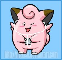 Clefairy with iPod by Nyaasu