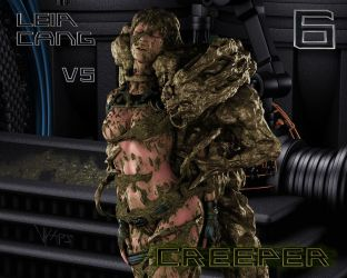 Leia Cang Vs Creeper 6 - Cocooning Leia Cang by Vyxes