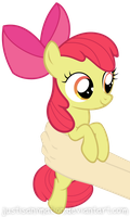 Apple Bloom on hands by JustisAnimation