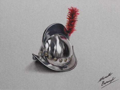 Spanish helm drawing by Marcello Barenghi by marcellobarenghi