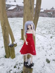 KOS-MOS in the snow 3 by lordsjaak