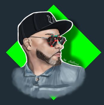 Roger Sanchez Groovy Glitch Portrait by TheArtLone