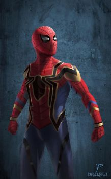 Fanart of Iron Spider (Spiderman-Homecoming) by Prestegui