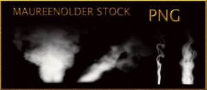STOCK PNG white smoke by MaureenOlder