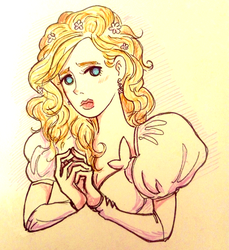 Inktober D13 (-Guarded) - Giselle (Enchanted,2009) by comuto-sama