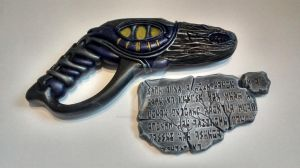 Wraith Stunner With Ancient Tablet by Pharaoh-Hamenthotep