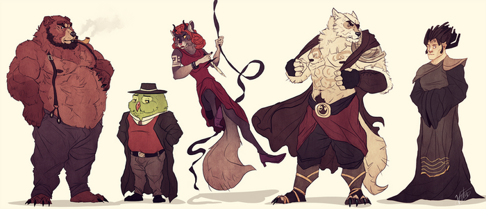 Characters design by VetroW