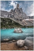 Lago di Sorapiss and Dito di Dio by JamesRushforth