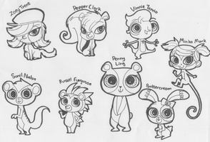 Littles Pet Shop 2012 Character Doodles by SapphireMiuJewel