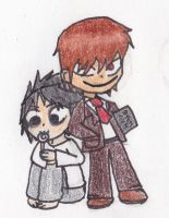 Some Death Note chibis by Cookie-Waffle