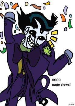 Page Views Celebration (5000) by AvasweetsJoker