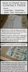 How to: Paint with Contact Paper by DugFinn