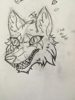 Wolf drawing experimenting by AbsoluteNerd10099