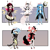 [CLOSED] ADOPT AUCTION 30 - multiple set by Piffi-sisters