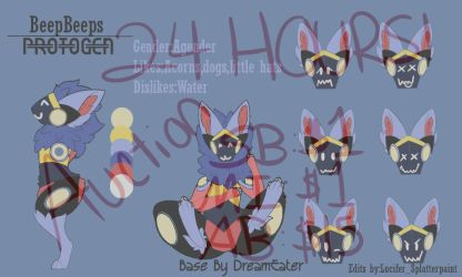 Protogen Character Auction[Reminder] by Splatterpaint-Donkey