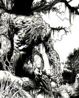 Swamp Thing detail by Blasterkid