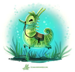 Daily Paint #1219. Seahorse by Cryptid-Creations