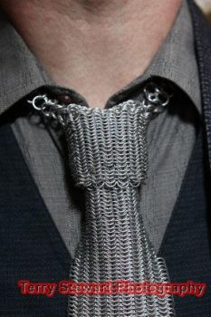 Chainmail Neck Tie - close-up by TheBrassApple