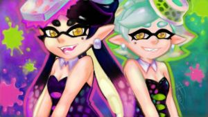 The Squid Sisters (Art Academy Sketchpad Wii U) by HolyLilium