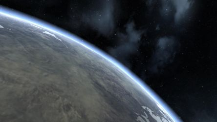 EVE Online Screenshot- The Veiw from a Planet by Gilligan2011