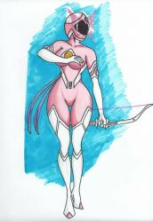 Pink Ranger Psylocke of the X-Rangers by Tazirai