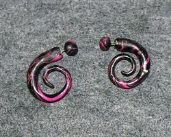 Pink Spiral Fake Plugs by mintdawn