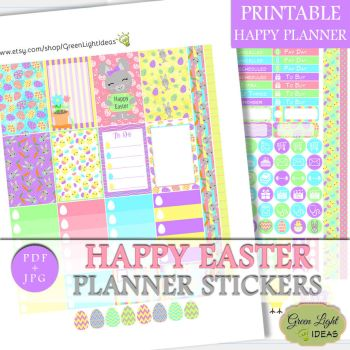 Happy Planner Easter Stickers by GreenLightIdeasGLI