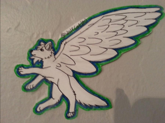 Wolf With Wings by WolfCat100
