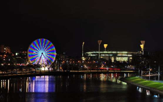 Melbourne SkyWheel and MCG by SCARECROW1138