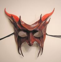 Red Devil Leather Mask by teonova