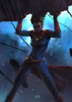 Captain Marvel by aoxenuk