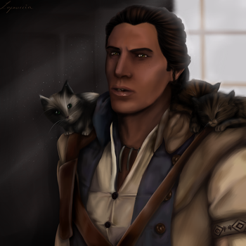 Connor + kitties by Lapruccia