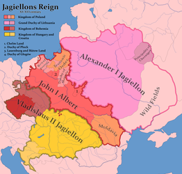 Jagiellons Reign in year 1500 by Czarnobog