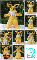 Jolteon Pokemon Fursuit - Modified (2015) by Eternalskyy