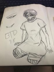 DD: quick sketch - 1st time draw - Legless Man by Imbriaart