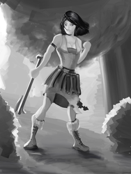Warrior Girl by monsterblues