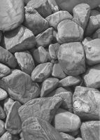 Stones in graphite 2 by markstewart