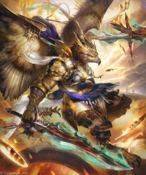 Oathplume Warrior / Faithful Garuda by kazashino