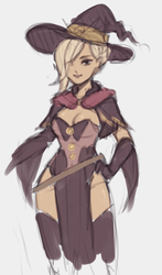 Witch Mercy, Overwatch by white-pool