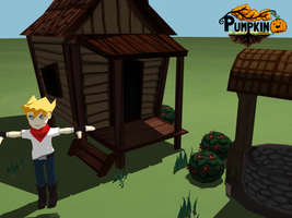 House model with characters by Pumpkin-Days-Game