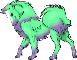 Colourful wolf by Gottheart