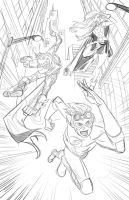 Young Justice Pencils by Hominids