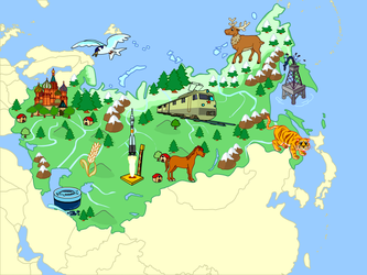 Russia And Eastern Countries (Mute Physical Map) by Fernikart57