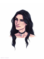 Yennefer The Witcher 3 Wild Hunt by Naimly