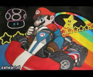 Mario Kart Rainbow Road by pauline86