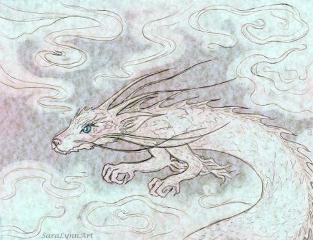 White Dragon by SaraLynnArt