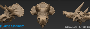 Zbrush Triceratops by EvilQueenie