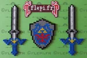 Link sword and shield by flepi