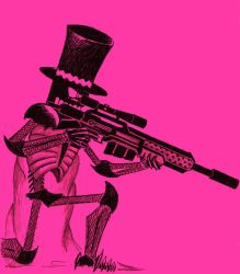 Skeleton Sniper man by Gref313